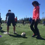 VSP students doing soccer drills