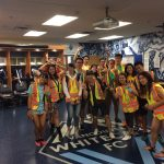 program students wearing safety vests