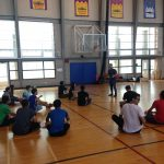 VSP students on the basketball court